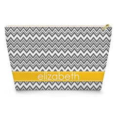Zig Zag Makeup Bag - Gray