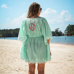 mint beach cover up