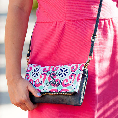 Tile Monogram Crossbody Bag