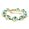 Aquamarine Crystal Dot Bracelet
