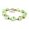 Lime Crystal Dot Bracelet