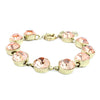 Peach Crystal Dot Bracelet