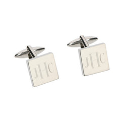 square monogram cuff links