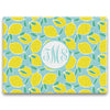 lemon blue rectangle cutting board