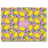 lemon pink rectangle cutting board