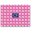 pink basketweave cutting board