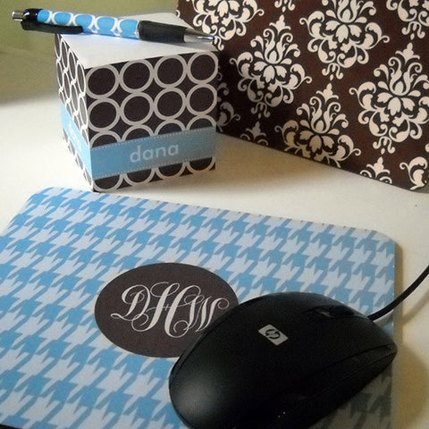 Monogram Mouse Pad - Houndstooth