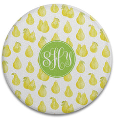 Pears Round Glass Cutting Board