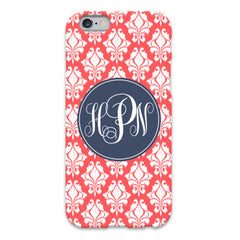Coral Damask iPhone 6 Case