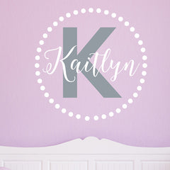 Kaitlyn Monogram Decal