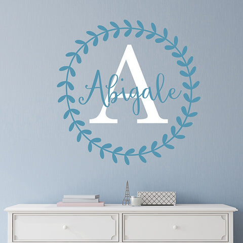 Abigail Monogram Decal