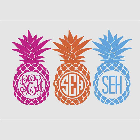 Pineapple Wall Monogram Decal