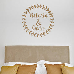 Rustic Wreath Decal