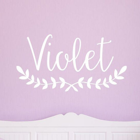 Violet Monogram Decal