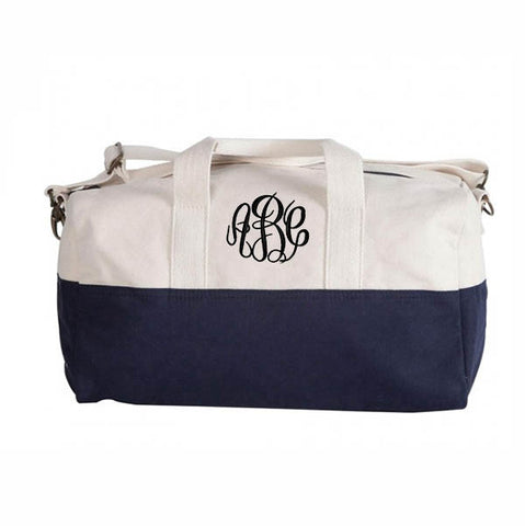 Monogram Color Block Duffel - Choose Color