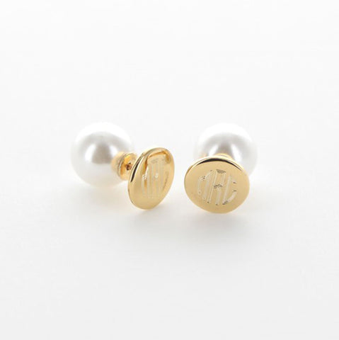 Gold And Pearl Stud Earrings