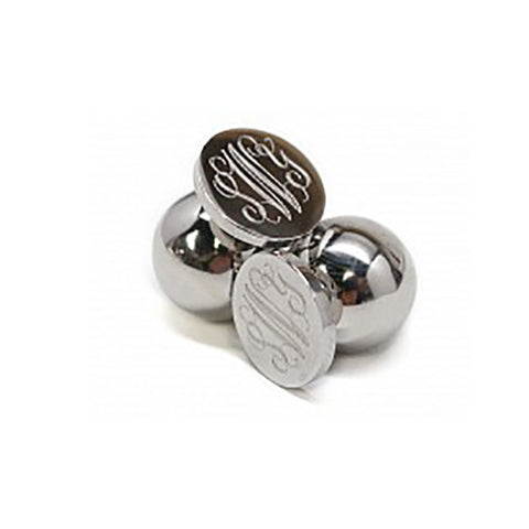 SILVER TONE 360 DEGREE EARRINGS