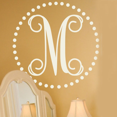 Fancy Dot Monogram Decal