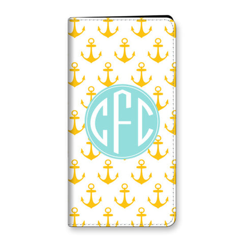 Monogram iPhone 6 Plus Folio Case- Anchors
