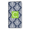 Damask iPhone Folio - Navy