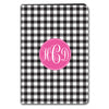 Gingham iPad Case - Black