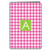 Gingham iPad Case - Hot Pink
