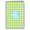 Gingham iPad Case - LIme