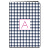 Gingham iPad Case - Navy