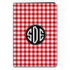 Gingham iPad Case - Red