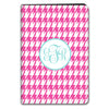 Houndstooth iPad Case - Hot Pink