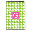 Houndstooth iPad Case - Lime