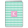 Houndstooth iPad Case - Mint