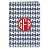 Houndstooth iPad Case - Navy