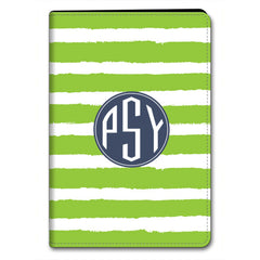Stripe iPad Case - LIme