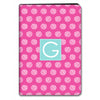 Stripe Dot iPad Case - Hot Pink