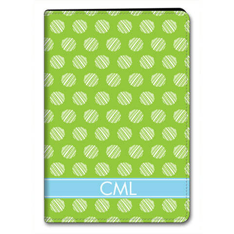 Monogram iPad Folio Case - Stripe Dot