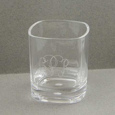 Short Monogram Glass - Acrylic