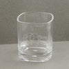 short monogram glass