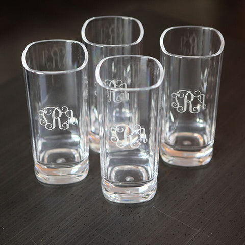 Acrylic Monogrammed Tall Glass