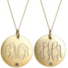 Monogram Gold Necklace With Birthstone