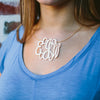 gold interlock necklace in 5 sizes