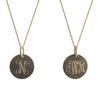 Gold Monogram Necklace - Small