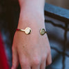 gold sorority bangle bracelet