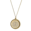 Gold MOnogram Necklace - Round Frame