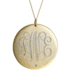 Large Monogram Gold Necklace With Diamond