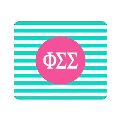 Sorority Greek Mouse Pad - Mint Stripe