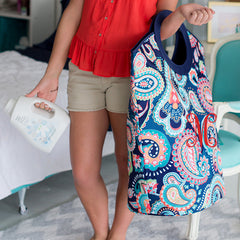 paisley extra large tote or hamper