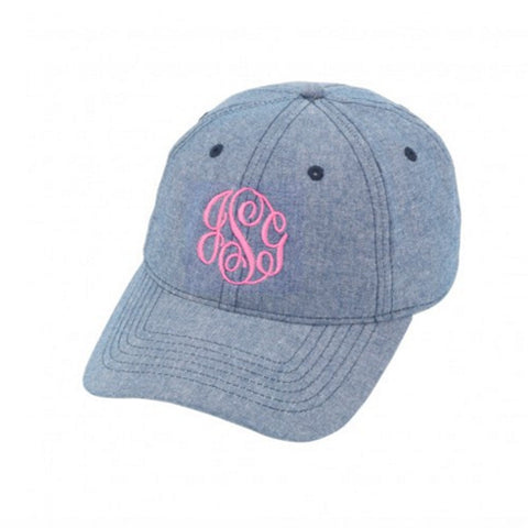 Monogram Chambray Hat