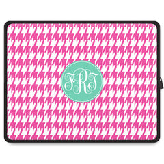 Houndstooth Tablet Sleeve - Pink