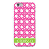 Basketweave iPhone Case - Hot Pink